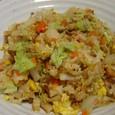 白菜ラー油焼き飯(20070106)