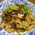 白菜の辛味肉炒め(20070222)