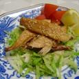 アジの干物と野菜のレモンポン酢(20070420)