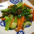 小松菜とチンゲン菜の炒め物(20070606)