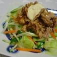 豚生姜と茹で野菜(20070628)