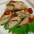 エノキの豚巻き梅肉ソース(20070718)
