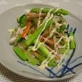 ゴーヤと色々野菜のハムサラダ(20070927)