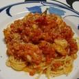 エビのトマトソースパスタ(20071014)