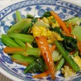 小松菜炒め(20071029)