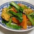 小松菜と厚揚げのXO醤炒め(20071128)