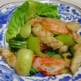 イカとチンゲン菜の炒め物(20071211)