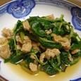 かつお菜と鶏ミンチの煮浸し(20071226)