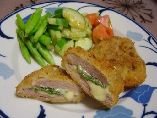 チーズと大葉入りヒレカツ(20070902)